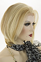 Michelle WB Lace Front Short HumanBlend Lace Front Heat Friendly Straight Blonde Brunette Red Wigs