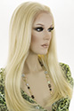 Charity wb Long HumanBlend Lace Front Heat Friendly Straight Blonde Brunette Red Wigs