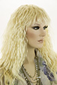 Elaine G Long Medium Wavy Curly Blonde Wigs
