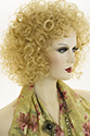 Lucy Medium Curly Blonde Brunette Red Wigs