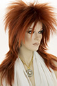 Punky G Medium Straight Blonde Brunette Red Costume Men Wig