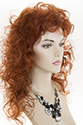 Suzzett Medium Wavy Curly Blonde Brunette Red Grey Wigs