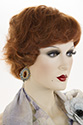 Beth E Short Human Hair Monofilament Wavy Curly Blonde Brunette Red Grey Wigs