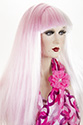 F454 Long Straight Costume Fun Color Wigs
