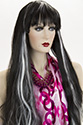 F446 Long Straight Costume Fun Color Wigs