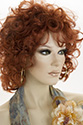 DEE DEE Medium Wavy Curly Blonde Brunette Red Grey Wigs