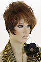 Coral Short Lace Front Wavy Straight Brunette Red Wigs