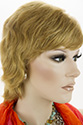 SARAH HH E Medium Short Human Hair Wavy Straight Blonde Brunette Red Grey Wigs
