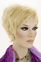 SANDY HH E Medium Short Human Hair Pixie Wavy Straight Blonde Brunette Red Grey Wigs