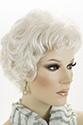 Ashley Short Monofilament Hand Tied Wavy Curly Blonde Brunette Red Grey Wigs