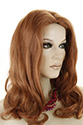 Leora Long Human Hair Skin Top Wavy Straight Blonde Brunette Red Wigs