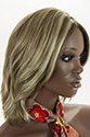 Alina E Medium Monofilament Skin Top Wavy Straight Blonde Brunette Red Grey Wigs