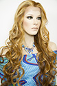 Champagne LF Long Lace Front Wavy Straight Blonde Brunette Red Wigs