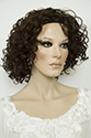 Aqua HS 3/4 Medium Wavy Curly Brunette Wigs 3/4 Cap