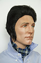 Elvis G Short Straight Brunette Costume Men Wig