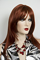 Sharon Long Skin Top Straight Blonde Brunette Red Wigs