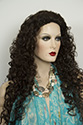 SANDY XL 3/4 Medium Curly Blonde Brunette Red Grey Wigs 3/4 Cap