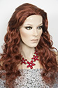 Cassie Long Skin Top Wavy Curly Blonde Brunette Red Fun Color Wigs