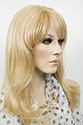 Megan HM WB Long Medium Human Hair Monofilament Hand Tied Straight Blonde Brunette Red Wigs