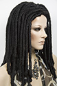 Dreadlock L G Medium Curly Brunette Wigs