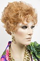 Doris Short Wavy Curly Blonde Red Wigs