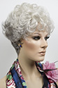 Doris Short Wavy Curly Blonde Brunette Red Grey Wigs