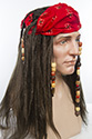Pirate Long Straight Brunette Costume Wigs Men Wig
