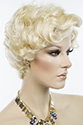 Carol Short Skin Top Wavy Curly Blonde Brunette Red Grey Wigs