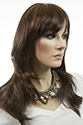 Ally G Long Medium Skin Top Wavy Straight Brunette Wigs