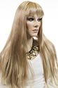 Katheryn Long Skin Top Straight Blonde Brunette Red Grey Wigs