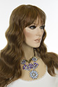 Marisa WB Long HumanBlend Skin Top Wavy Blonde Brunette Red Wigs