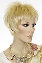Bijou Short Pixie Straight Blonde Brunette Red Wigs