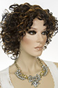 Orenda-E Medium Short Wavy Curly Blonde Brunette Red Wigs