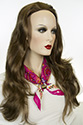 Kimmy (3/4 cap) Long Wavy Straight Blonde Brunette Red Wigs 3/4 Cap