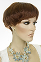 Samba wig Short Straight Brunette Red Wigs