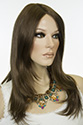 Angelina Long Monofilament Hand Tied Straight Blonde Brunette Red Wigs