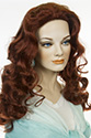 Erica 805 G Long Skin Top Wavy Curly Blonde Brunette Red Wigs
