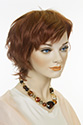 Martina Medium Short Human Hair Wavy Straight Blonde Brunette Red Wigs