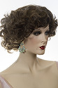 Marilyn Medium Short Skin Top Wavy Curly Blonde Brunette Red Grey Fun Color Wigs