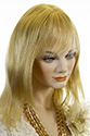 Mischa Long Human Hair Skin Top Straight Blonde Brunette Red Grey Wigs