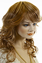 FEVER Medium Wavy Curly Blonde Brunette Red Wigs