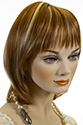 GERRY Medium Short Monofilament Hand Tied Straight Blonde Brunette Red Wigs