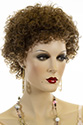 Sandra Short Curly Brunette Red Wigs