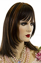GRACE E Medium Skin Top Straight Blonde Brunette Red Wigs