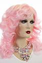 Farrah Long Medium Wavy Blonde Brunette Red Costume Fun Color Wigs