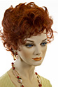 Sheila Short Wavy Curly Blonde Brunette Red Wigs