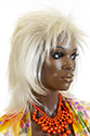 Punky S Medium Straight Blonde Brunette Red Grey Costume Wigs