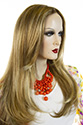 Love LF Long Lace Front Light Weight Monofilament Hand Tied Wavy Straight Blonde Brunette Red Wigs