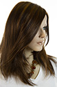 Lindsey LF Long Medium Lace Front Monofilament Hand Tied Straight Blonde Brunette Red Wigs